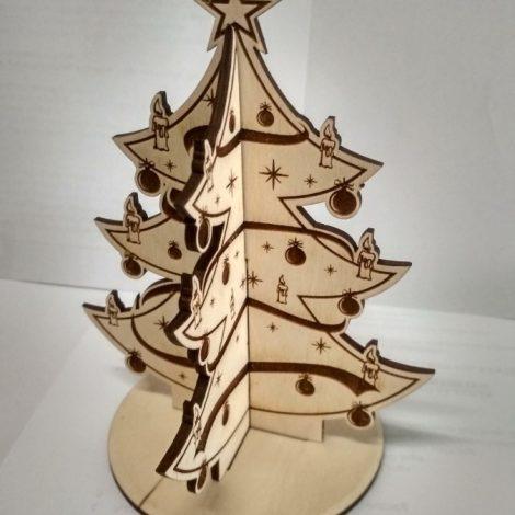 karácsonyfa dísz rétegelt lemezből